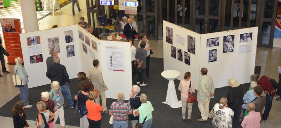 Fotoausstellung (Gesichter des Alters) im ZO in Freiburg. Foto: Stiftungsverwaltung